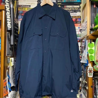BEAMS - 新品 SSZ × AH WORK SHIRTS NAVY ネイビー