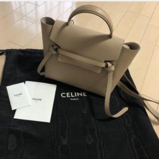 celine - セリーヌ ベルトバッグ マイクロ ライトトープ