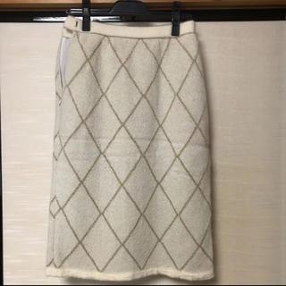 カルヴェン(CARVEN)のKisslenede  carven PARIS モヘアスカート(ひざ丈スカート)