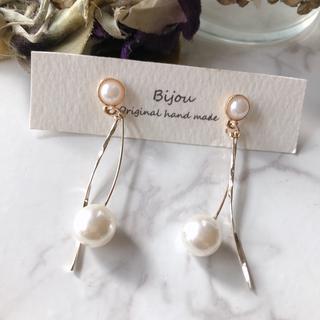 IENA - *新商品* perl gold line pierce