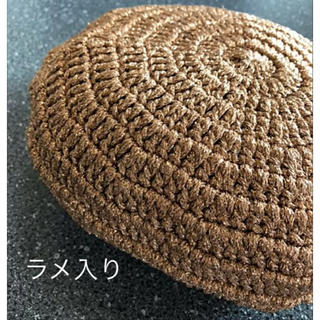 ザラ(ZARA)のOLIVE des OLIVE☆ラメ入り ベレー帽♡新品☆ゴールド♪(´∀`*)(ハンチング/ベレー帽)
