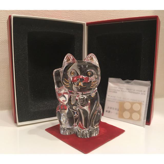 Baccarat(バカラ)のバカラ 招き猫  インテリア/住まい/日用品のインテリア小物(置物)の商品写真