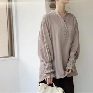 Ameri VINTAGE -  louren front button shirring blouse