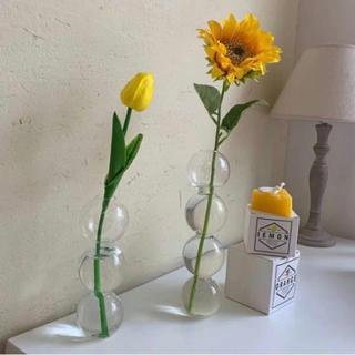 フラワーベース バブル花瓶 バブル型 4連 韓国 北欧雑貨 花瓶 ZARA