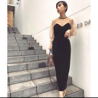 アメリヴィンテージ(Ameri VINTAGE)のAmeri Vintage  TULLE SLEEVE TIGHT DRESS(ロングドレス)