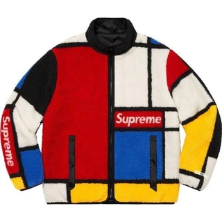 Supreme - 【M】Reversible Colorblocked Fleece Jacket
