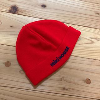 mikihouse - ミキハウス ベビー帽 赤