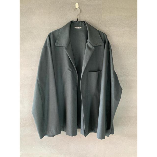 COMOLI(コモリ)の新品未使用 wool silk tropical shirt jacket メンズのトップス(シャツ)の商品写真
