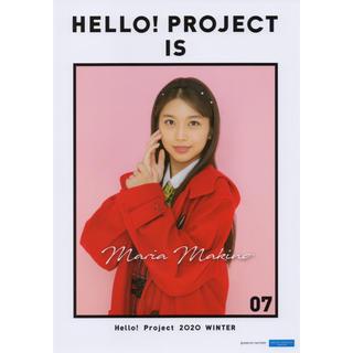 モーニングムスメ(モーニング娘。)の牧野真莉愛 モーニング娘。 冬ハロ 2020 p1 ピンナップポスター ピンポス(アイドルグッズ)