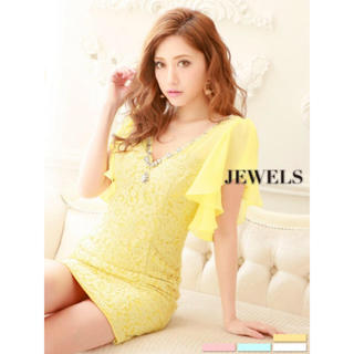 ジュエルズ(JEWELS)の1着限定💕 jewels ミニ レース ビジュー (ミニドレス)