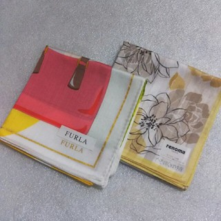 フルラ(Furla)のフルラ&レノマ☆大判ハンカチ2枚セット(ハンカチ)
