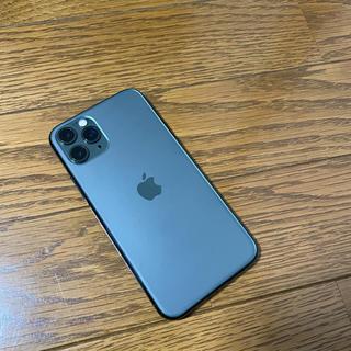 Apple - 美品!iphone 11 pro 256GB ミッドナイトグリーン ソフトバンク