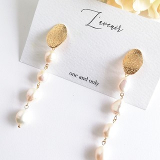 TOMORROWLAND - 【再販♡】4連淡水真珠のロングピアス