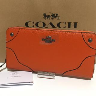 コーチ(COACH)のCOACH コーチ 長財布 オレンジ(財布)