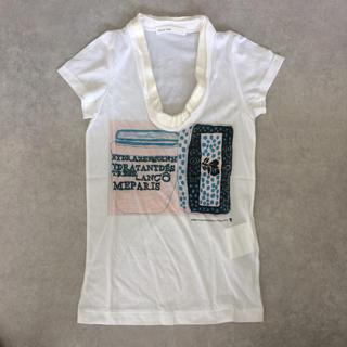サカイラック(sacai luck)のsacai luck サテンフリル  UネックTシャツ(Tシャツ(半袖/袖なし))