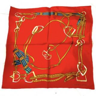 ラルフローレン(Ralph Lauren)の新品 定価2万円以上 シルク スカーフ レッド(バンダナ/スカーフ)