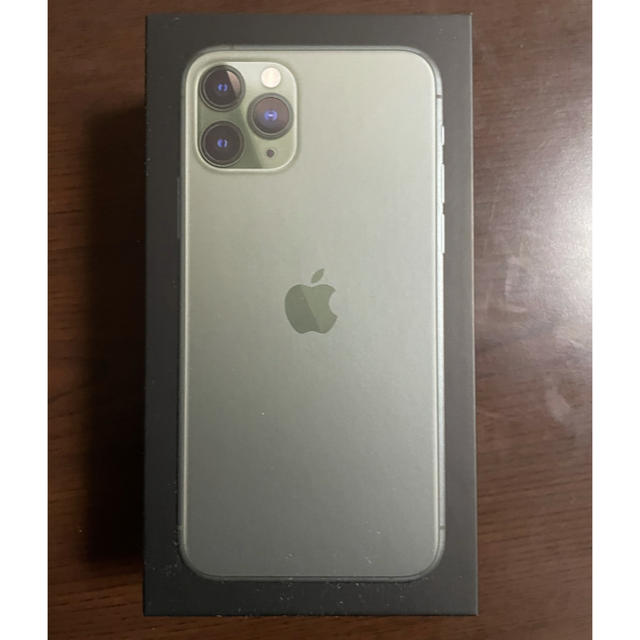 iPhone(アイフォーン)のiPhone11pro 64GB ミッドナイトグリーンSIMフリー スマホ/家電/カメラのスマートフォン/携帯電話(スマートフォン本体)の商品写真
