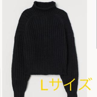 H&M - H&M 新品未使用☆タグ付き☆チャンキーニット Lサイズ ブラック
