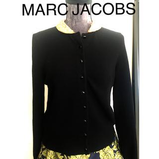 マークバイマークジェイコブス(MARC BY MARC JACOBS)の襟が素敵❣️マークジェイコブス   ゴールドラメ襟ブラックカーディガン(カーディガン)