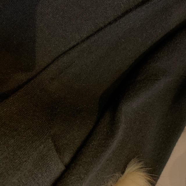 GRACE CONTINENTAL(グレースコンチネンタル)のグレースコンチネンタル ファー付ニットカーディガン 袖コンシャス レディースのトップス(カーディガン)の商品写真