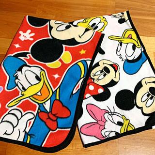 Disney - ディズニー ミッキー ブランケット ひざ掛け 2枚
