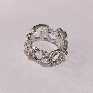 Dior - 【Dior/ディオール】指輪 リング ラインストーン シルバー