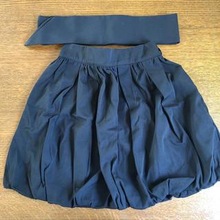 バイバイ(ByeBye)の【期間限定値下げ】バルーンスカート 黒 ByeBye(ミニスカート)