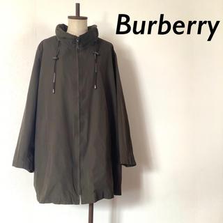 BURBERRY - BURBERRY LONDON ナイロン フーディコート カーキ
