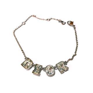 クリスチャンディオール(Christian Dior)の【ディオール/Dior】ブレスレット ロゴ ストーン クリスタル(ブレスレット/バングル)
