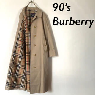 BURBERRY - イングランド製 90's Burberry ノバチェック ステンカラーコート