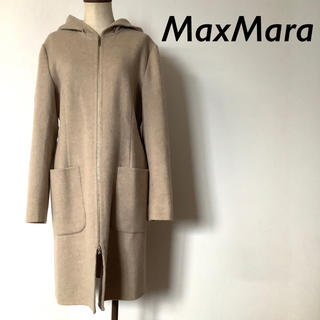 Max Mara - 【美品】Max Mara イタリア製 ウール フーディー コート カシゴラ混