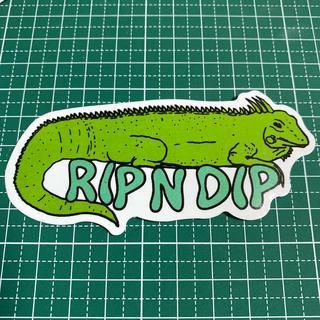 ステッカー トカゲ 爬虫類 RIPNDIP(スケートボード)