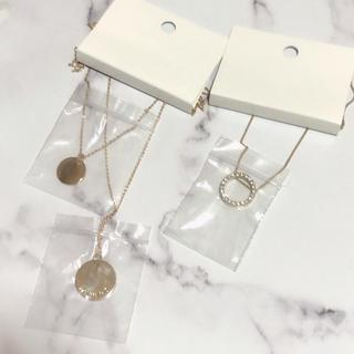 エイチアンドエム(H&M)の新品未使用☆2点セット 安室奈美恵 H&Mコラボ ゴールド 2連 ネックレス(ネックレス)