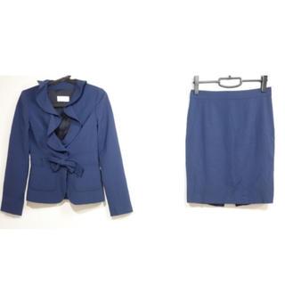 レッドヴァレンティノ(RED VALENTINO)の美品 レッドバレンチノ レディース スーツ スカート セットアップ ネイビー(スーツ)