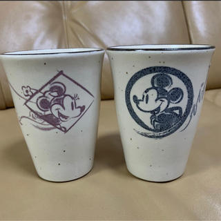 Disney - ディズニー ペアフリーカップ 湯呑みセット