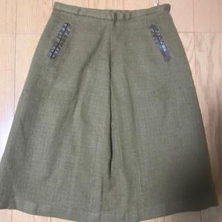 ミッシェルクラン(MICHEL KLEIN)のMICHEL KLEIN  スカート wool 羊毛(ひざ丈スカート)