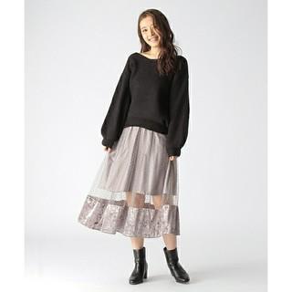 ミスティウーマン(mysty woman)のドット チュール スカート(ひざ丈スカート)