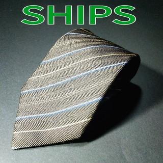 シップス(SHIPS)の【美品】SHIPS ストライプ ネクタイ カーキ(ネクタイ)