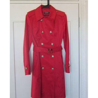 ラルフローレン(Ralph Lauren)のラルフローレン トレンチコート RED M ベルト付き 新品同様(トレンチコート)