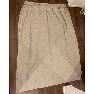 ムジルシリョウヒン(MUJI (無印良品))の無印良品 カーテン ライトグレー 2枚セット(カーテン)