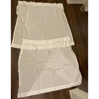 ムジルシリョウヒン(MUJI (無印良品))の無印良品 カーテン ホワイト 2枚セット(カーテン)