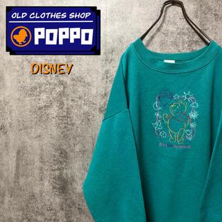 Disney - ディズニー♡USA製くまのプーさんキャラクター刺繍スウェット 90s