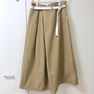 ローズバッド(ROSE BUD)の美品ベルトデザインラップスカート(ロングスカート)