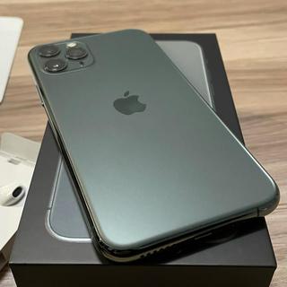 iPhone - 【美品】iPhone 11 Pro 256GB Midnight Green本体