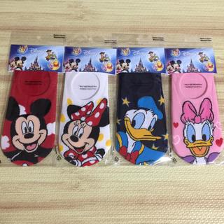 Disney - ディズニー 靴下 4足 セット #1  ミッキー ドナルド
