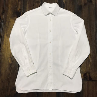 FINAMORE - Peschetto Genova Honeycomb White Shirt