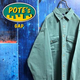 GAP - 【オールドギャップGAP】フラップ付きダブルポケットチノワークシャツ 90s