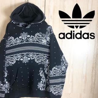 adidas - adidas アディダス パーカー ペイズリー 刺繍ロゴ 大きめ 美品 レア