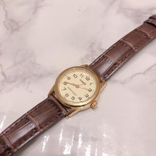 カシオ(CASIO)の美品 腕時計 ブラウン 革 カシオ CASIO(腕時計)
