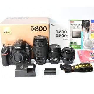 Nikon - Nikon D800  標準&望遠&単焦点トリプルレンズセット